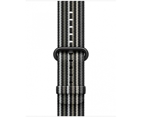 Accesorio de reloj Apple inteligente Grupo de rock Negro Gris Nylon MR...