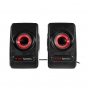 ALTAVOCES MARS GAMING 2.0 MRS0 10W RMS ULTRA BASS COLOR NEGRO Y PLATA