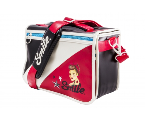 bandolera camara smile one bag m retro pin up negro rojo blanco 16512
