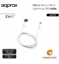 CABLE USB A MICRO USB Y LIGHTNING APPROX APPC32