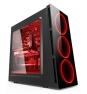 CAJA TORRE GAMING ZE 906 CON LED  ZE-906R