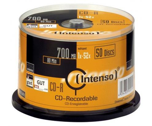 CD-R INTENSO 700 MB 80 MIN 52x CAKEE BOX 50 1001125