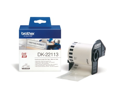 CINTA BROTHER DK22113 PELICULA CONTINUA TRANSPARENTE  62x 5,24mm