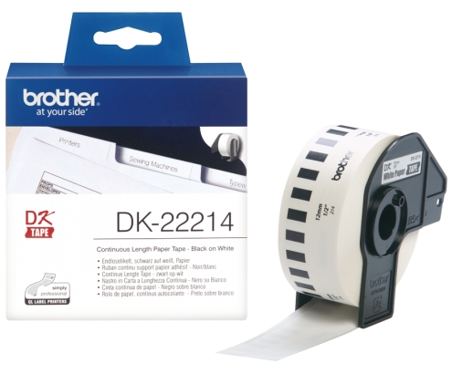 CINTA BROTHER DK22214 PAPEL CONTINUO BLANCA 12x30,48mm