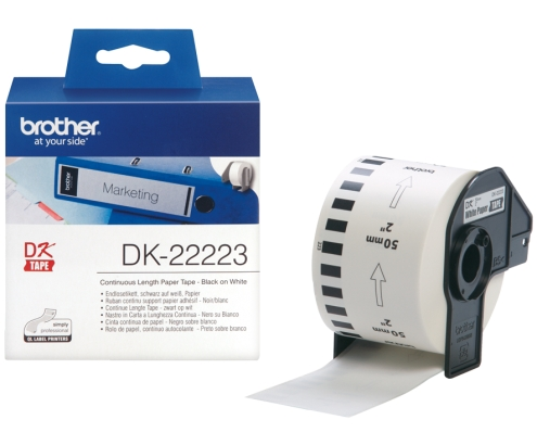 CINTA BROTHER DK22223 PAPEL CONTINUO BLANCO 50x30,48mm