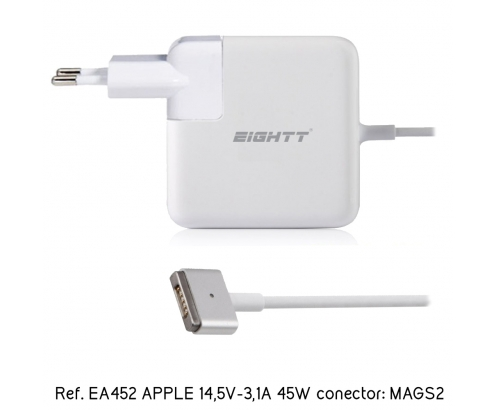 Eightt Cargador Especifico Compatible con APPLE 14,5V-3,1A 45W MAGSAFE2 Tip T