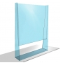 MAMPARA ACRYLIC PROTECTIVE SCREEN APPROX 800 X 1100 mm APPAPSSTAND COVID