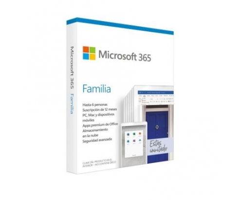MICROSOFT 365 FAMILIA 6 USUARIOS 1 AÑO MULTIDISPOSITIVO NO CD 6GQ-011...