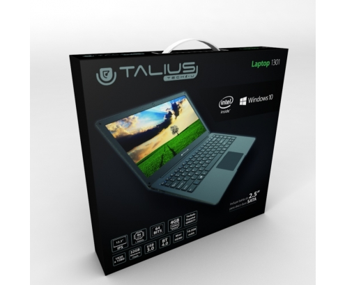 PORTATIL TALIUS ATOM QC 4GB 32GB 13.3 W10 TAL-LAPTOP1301