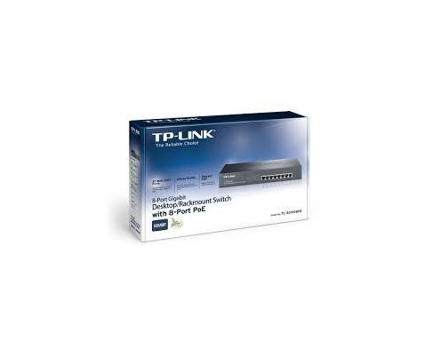 SWITCH TP-LINK 10/100/1000 8 PUERTOS POE NO GESTIONABLE TL-SG1008PE