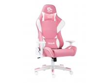 TALIUS Silla Dragonfly gaming blanco/rosa 2D, butterfly, base nylon, r...